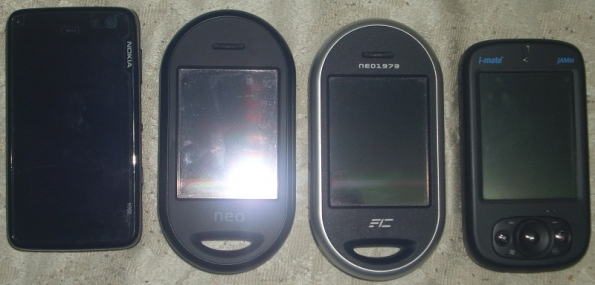 Image of four smartphones